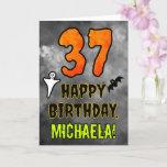 [ Thumbnail: 37th Birthday: Eerie Halloween Theme + Custom Name Card ]
