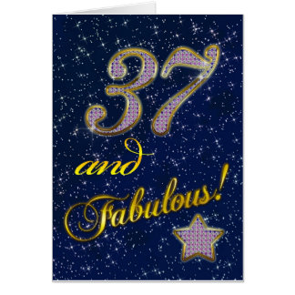 Wedding Gift For 37 Years : 37th birthday for someone Fabulous Card