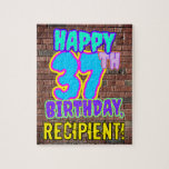 [ Thumbnail: 37th Birthday ~ Fun, Urban Graffiti Inspired Look Jigsaw Puzzle ]