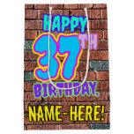 [ Thumbnail: 37th Birthday: Fun, Urban Graffiti Inspired Look Gift Bag ]