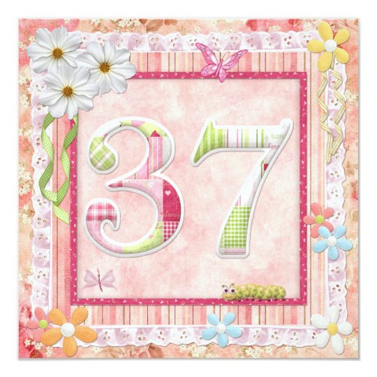 37th birthday party scrapbooking style card