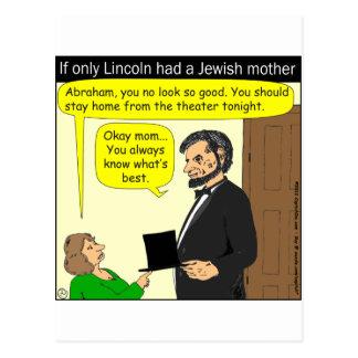 381 Abe Lincoln necesitaron a una madre judía - Tarjetas Postales
