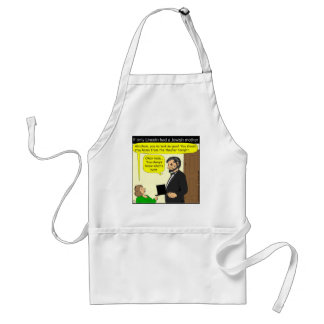 381 Abe Lincoln Needed a Jewish Mother - Cartoon Adult Apron