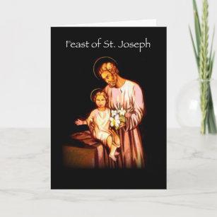 3821 Feast of St  Joseph Black Card