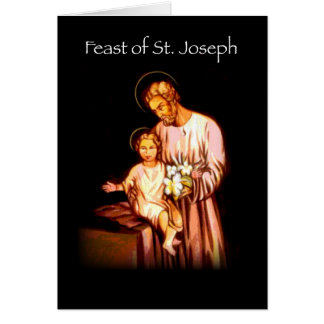 3821 Feast of St. Joseph Black Card
