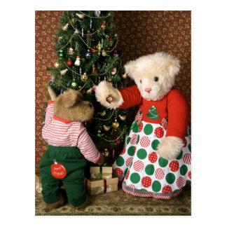 3834 navidad de los osos de peluche tarjeta postal