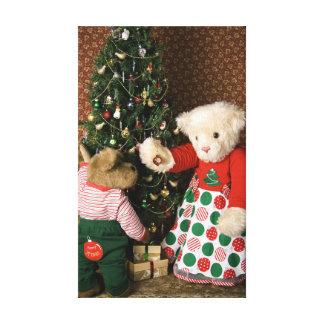 3834 Teddy Bears Christmas Canvas Print