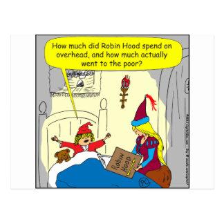383 robin hood overhead cartoon postcard