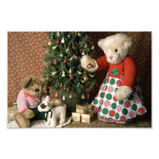 3843 navidad del oso de peluche foto
