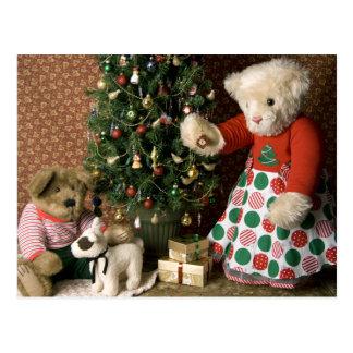 3843 Teddy Bear Christmas Postcard
