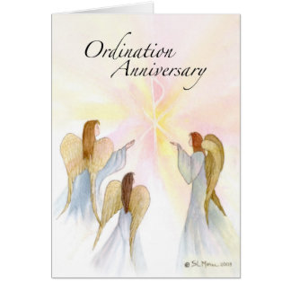 3849 Ordination Anniversary with Angels Card