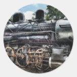385 - Locomotora de la consolidación de Baldwin Etiquetas Redondas