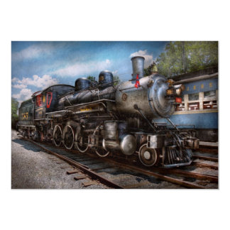 385 - Train - Steam - 385 Fully restored 5x7 Paper Invitation Card