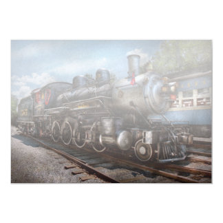 385 - Train - Steam - 385 Fully restored 5x7 Paper Invitation Card