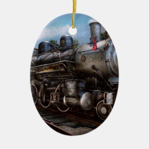 385 - Train - Steam - 385 Fully restored Christmas Tree Ornament