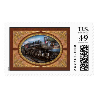 385 - Train - Steam - 385 Fully restored Postage Stamp