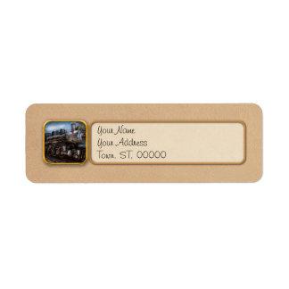 385 - Tren - vapor - 385 restaurados completamente Etiquetas De Remite
