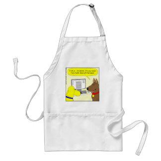 386 delete homework dog cartoon adult apron