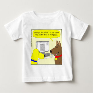 386 delete homework dog cartoon baby T-Shirt