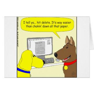 386 delete homework dog cartoon card
