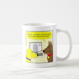 386 delete homework dog cartoon coffee mug