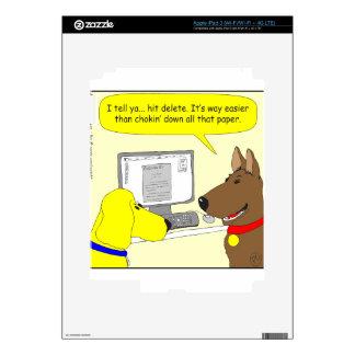386 delete homework dog cartoon iPad 3 decals