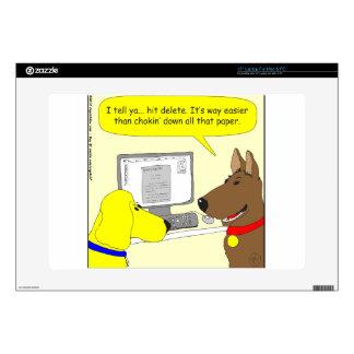386 delete homework dog cartoon skins for laptops