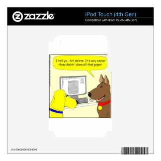 386 delete homework dog cartoon decal for iPod touch 4G
