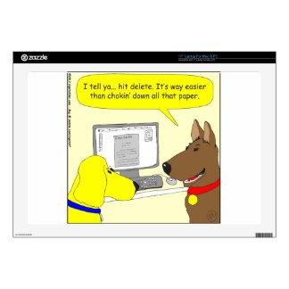 386 delete homework dog cartoon laptop decals