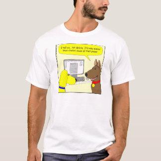386 delete homework dog cartoon T-Shirt
