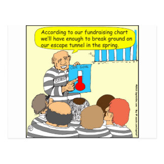 387 fundraising in jail cartoon postcard