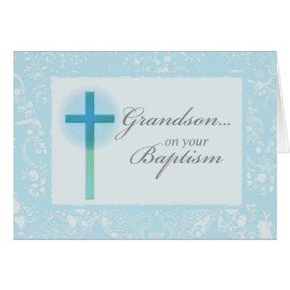 3881 Grandson Baptism Greeting Cards