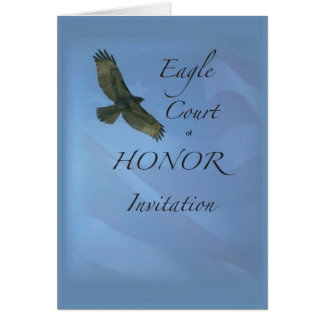 3895 Eagle Court of Honor Invitation Greeting Cards