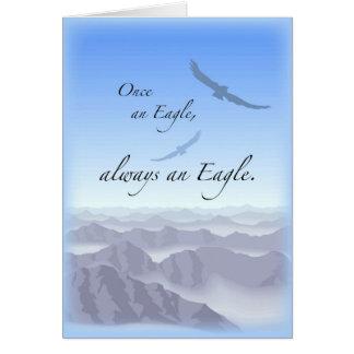 3897 una vez Eagle Tarjeta De Felicitación