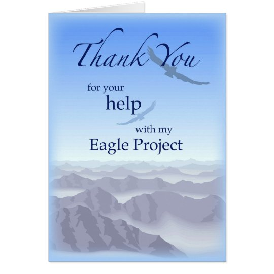 3898 Thank You Eagle Project Card