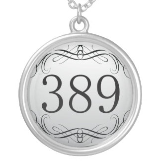 389 Area Code Silver Plated Necklace