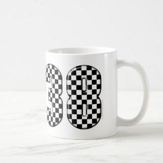 38 auto racing number coffee mugs