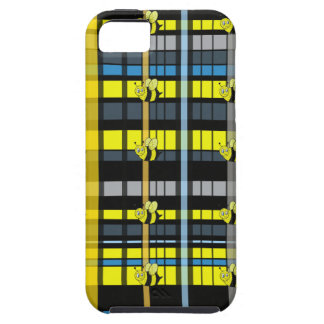 38.Black and Yellow Plaid Bumble Bees Design iPhone SE/5/5s Case