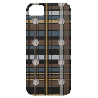 38. Brown Black Gray Plaid Baseball Design iPhone SE/5/5s Case