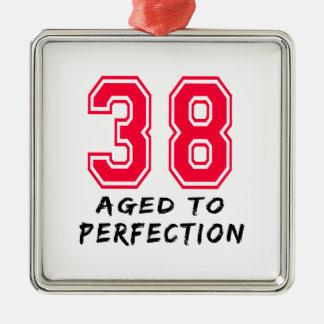 38 envejeció al diseño del cumpleaños de la perfec adornos