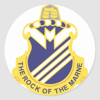 38 Infantry Regiment Classic Round Sticker