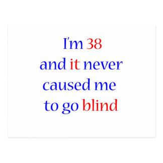 38 never gone blind postcard