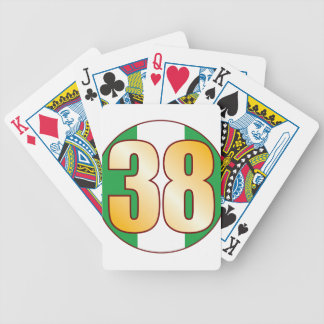 38 NIGERIA Gold Bicycle Playing Cards