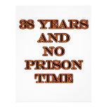 38 ninguna hora de prisión membretes personalizados