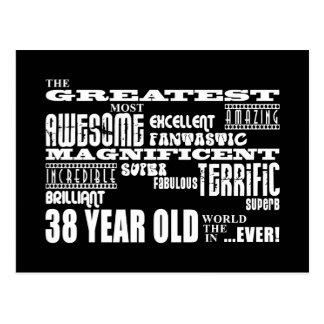 38.o Años más grandes de la fiesta de cumpleaños Tarjetas Postales