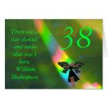 38.o Cita de hadas verde de Willam Shakepeare del  Tarjeta
