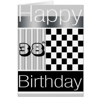 38.o Cumpleaños Tarjeta De Felicitación