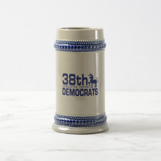 38.o Logotipo de Demócratas Stien Jarra De Cerveza