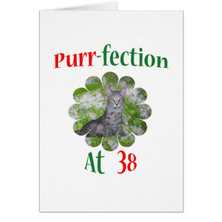 38 Purr-fection Greeting Card