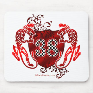 38 racing numbers tigers mouse pad